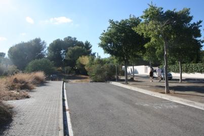 Cul de sac a la Rambla Arnau de Vilanova
